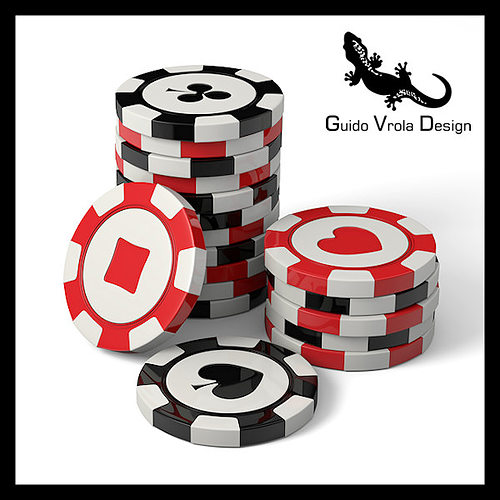 casino chips 3d model obj 3ds blend mtl 1