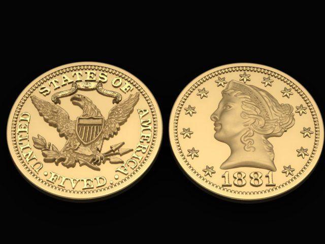 Liberty Double Eagle Gold Coin