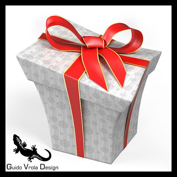 Cartoon style gift box 3D Model .obj .3ds .blend ...