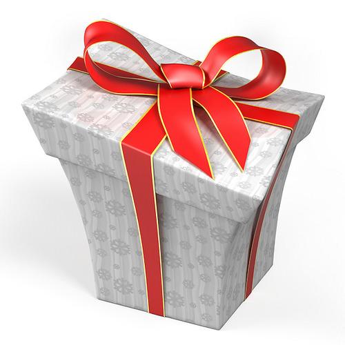 Cartoon style gift box d model obj ds blend