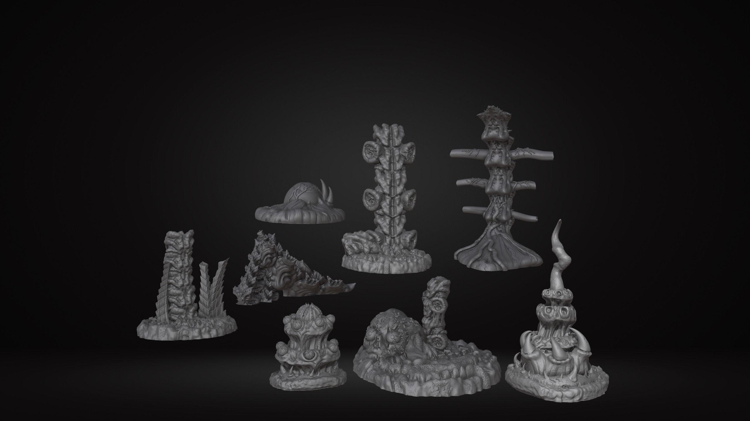 Biomass Environment Tabletop Games Scatter Terrain