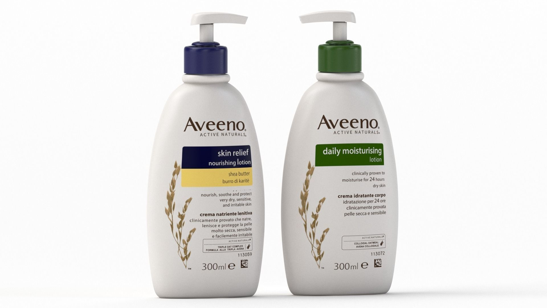 Aveeno Active Naturals Lotion bottle