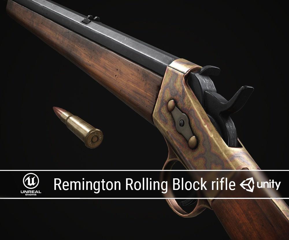 PBR Remington Rolling Block rifle