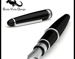 3D model Luxury fountain pen