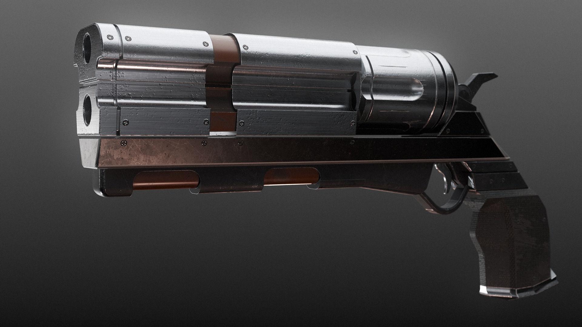 Revolver PBR Low Poly