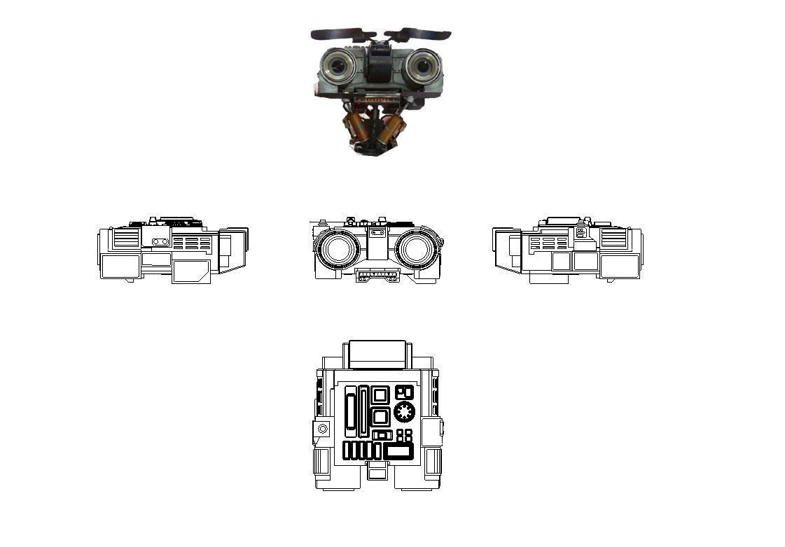 Johnny 5 -  Head Eyelids Toolbox and Sticker Images