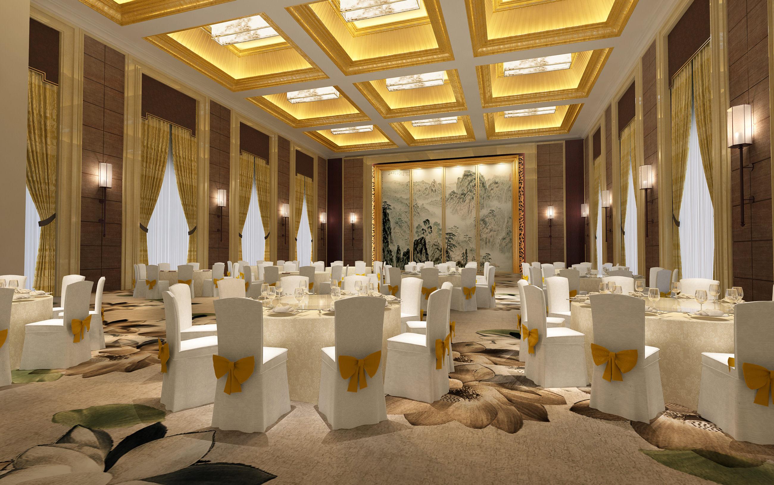 Banquet Hall 3d Model Max Cgtrader Com