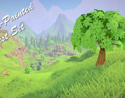 3D asset Painted Forest Pack