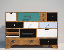 Commode Kare Dresser Malibu Eu 14-Drawer 3D Model