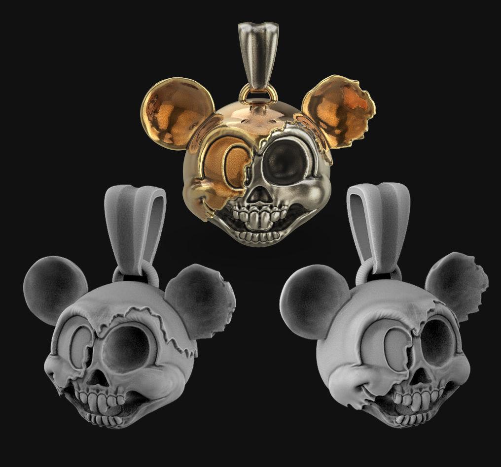 Mickey mouse head pendant