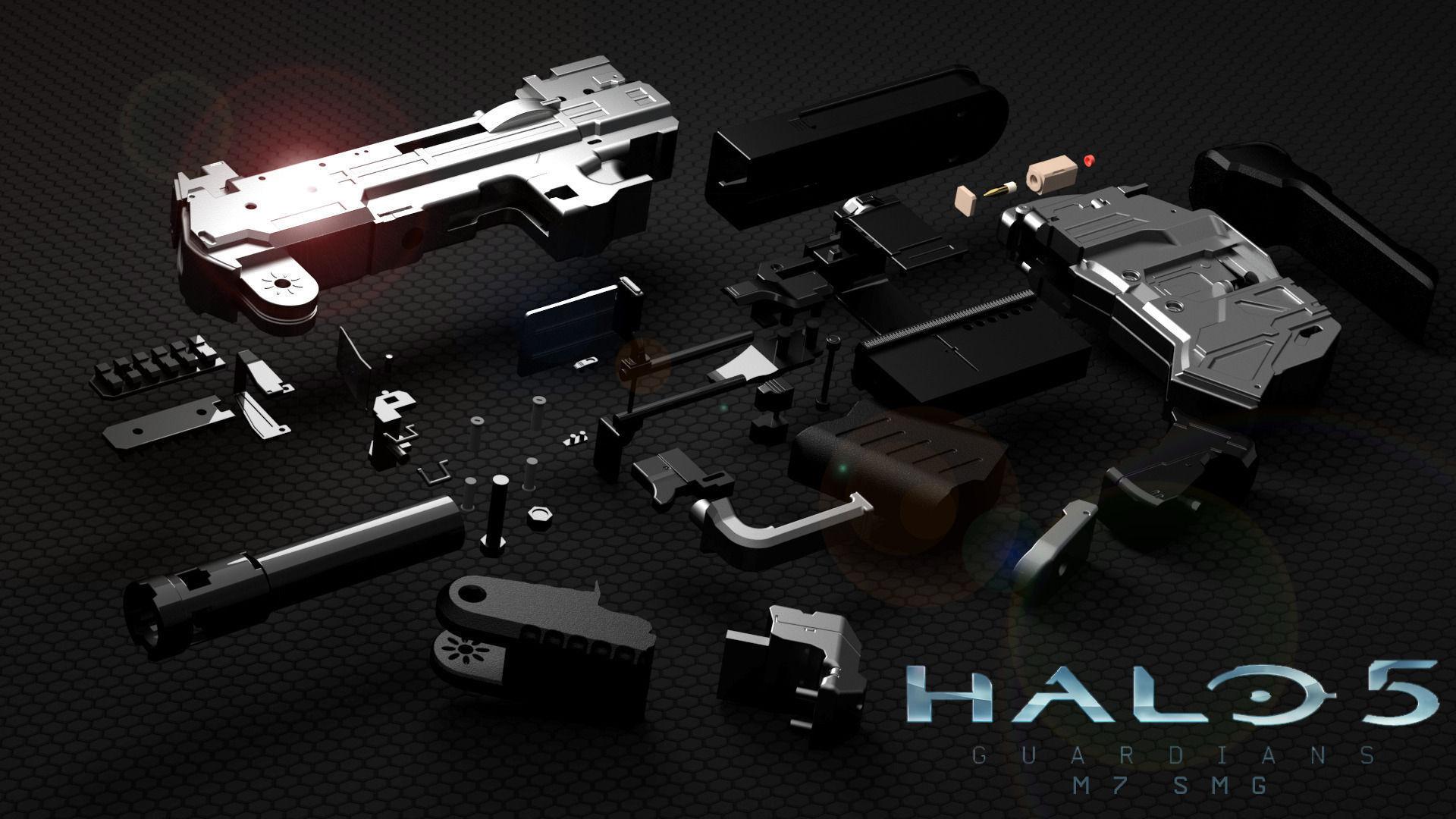 Halo 5 Smg 3d Model 3d Printable Stl Cgtrader Com