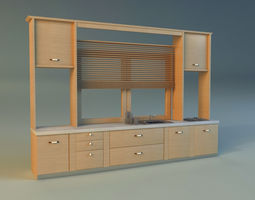 3D model Kitchen kitchen room