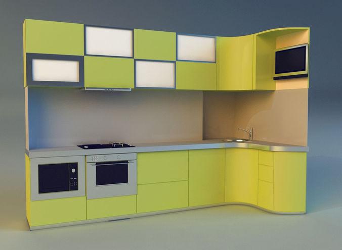 kitchen 3d model max obj mtl 3ds fbx 1