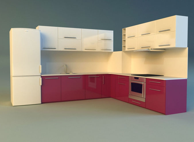 kitchen 3d model max obj mtl 3ds fbx 1