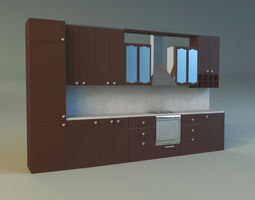 regions 3D model Kitchen