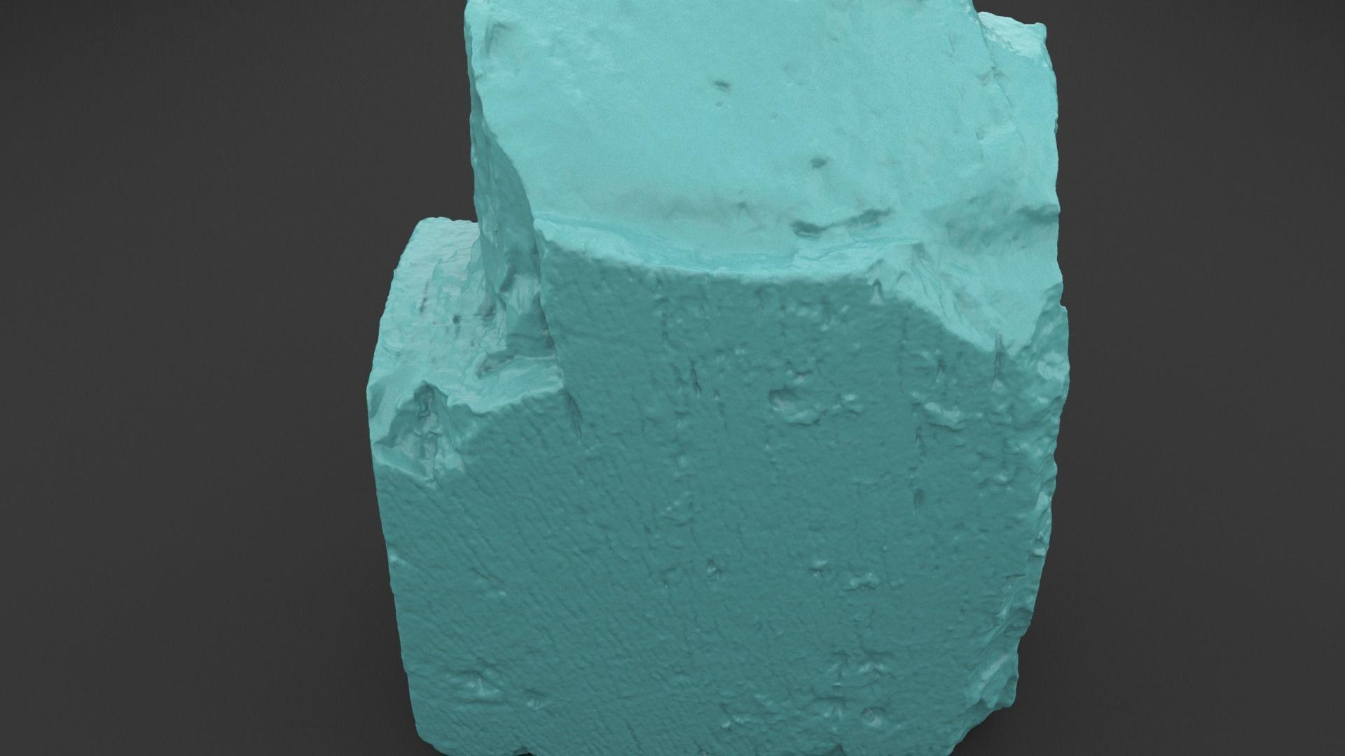 Scanned Old Red Brick 3D Print Model