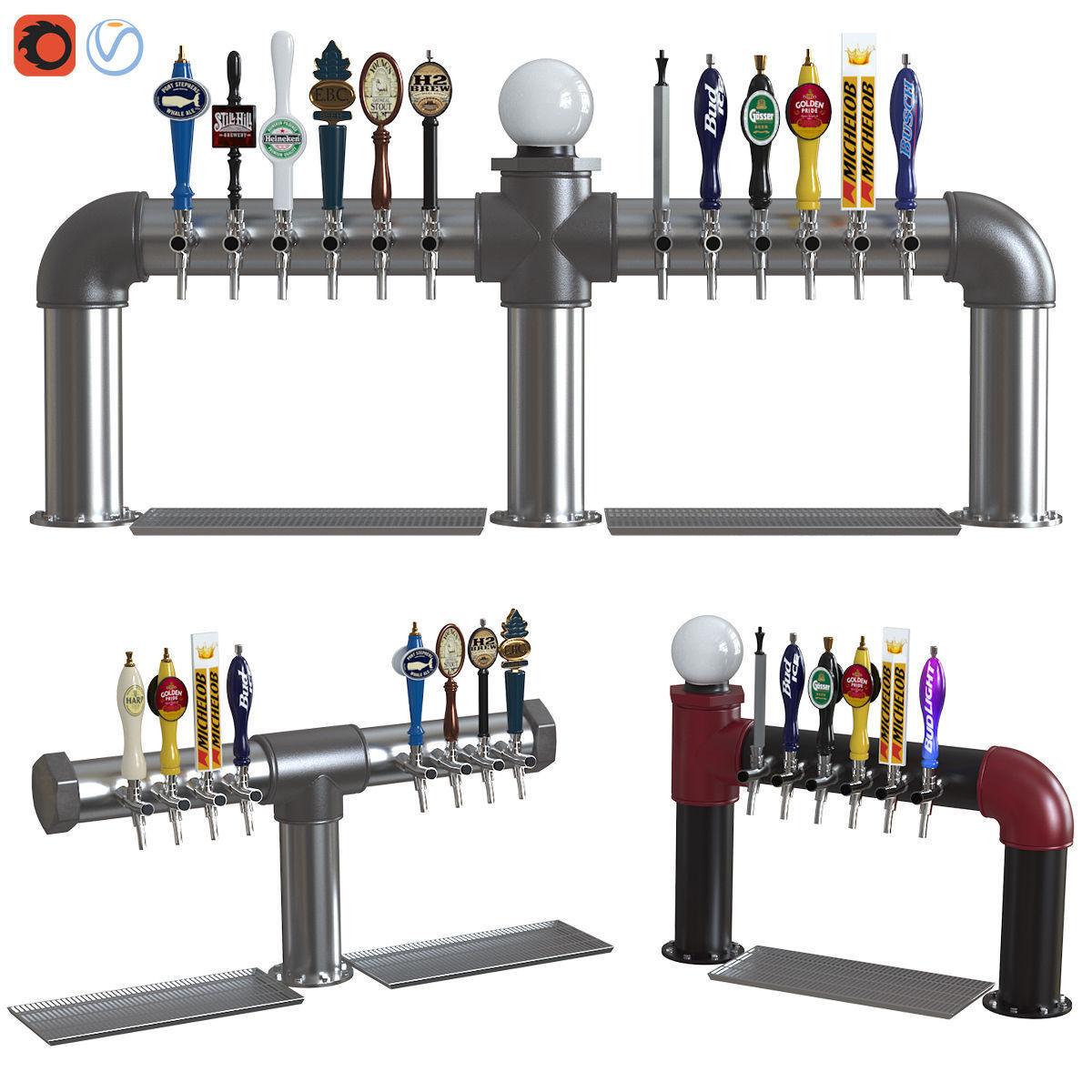 Industrial Pipe Draft Beer Towers 2