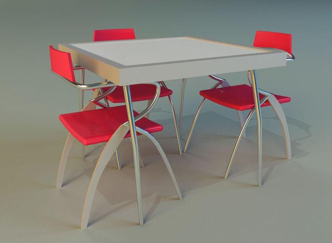 table 3d model max obj mtl 3ds fbx 1