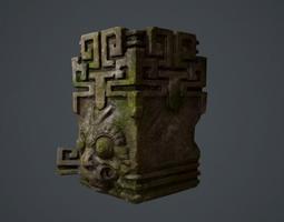 ancient statue 3d model low-poly