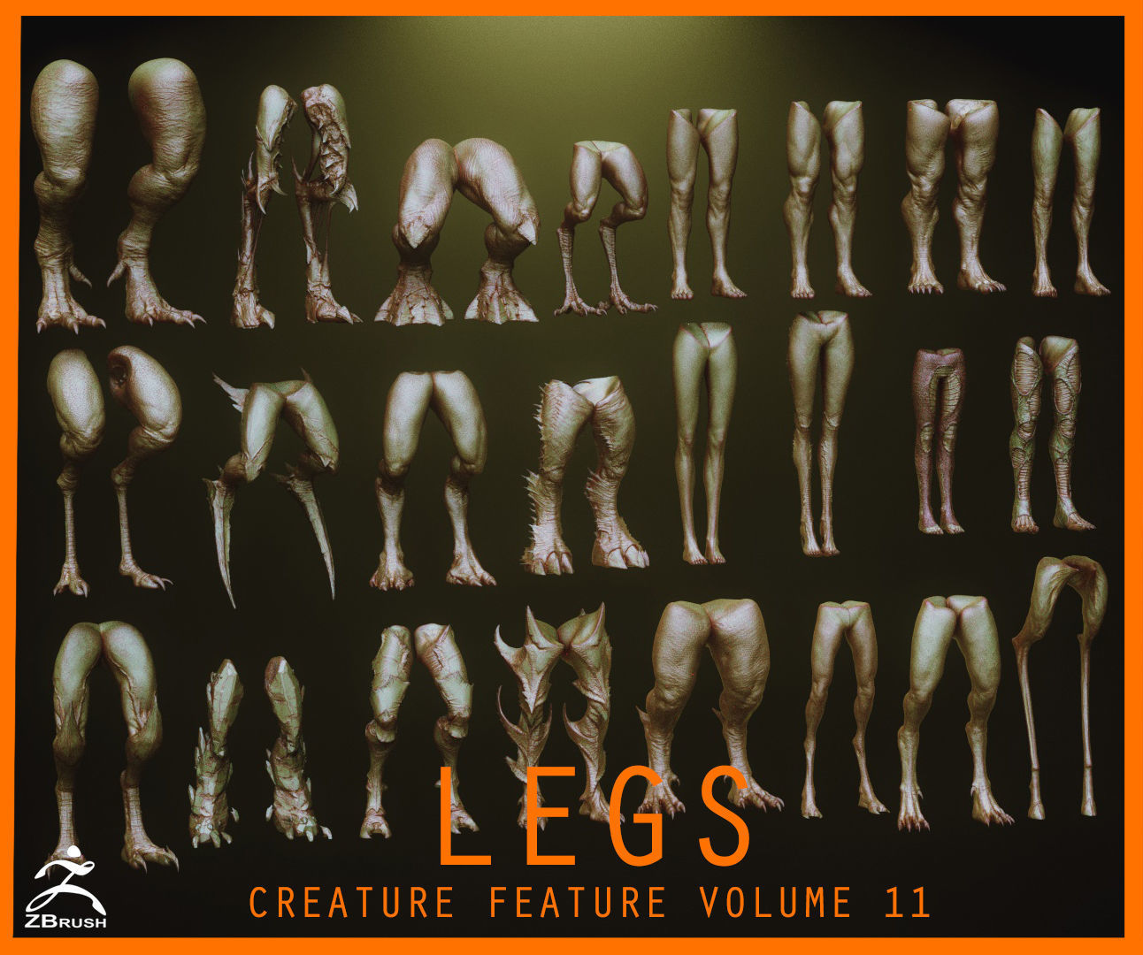 LEGS - 33 Character and Creature Insert meshes