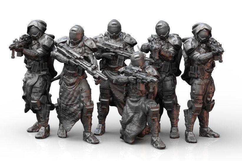 Scifi Infantry Squad