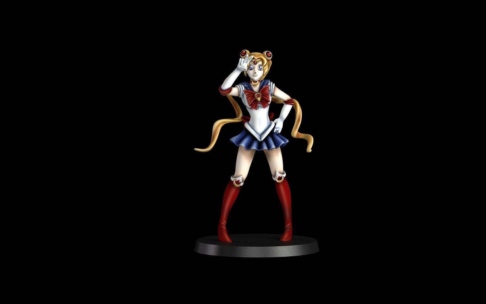 Sailor moon fan art 32mm