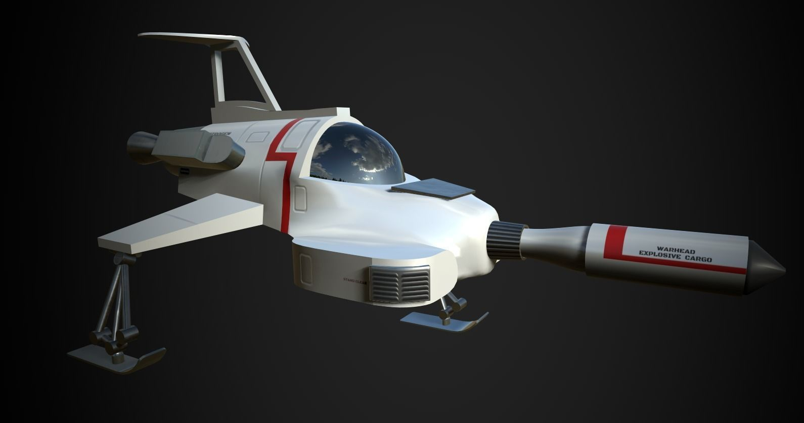 UFO Interceptor-stylised model from the TV show
