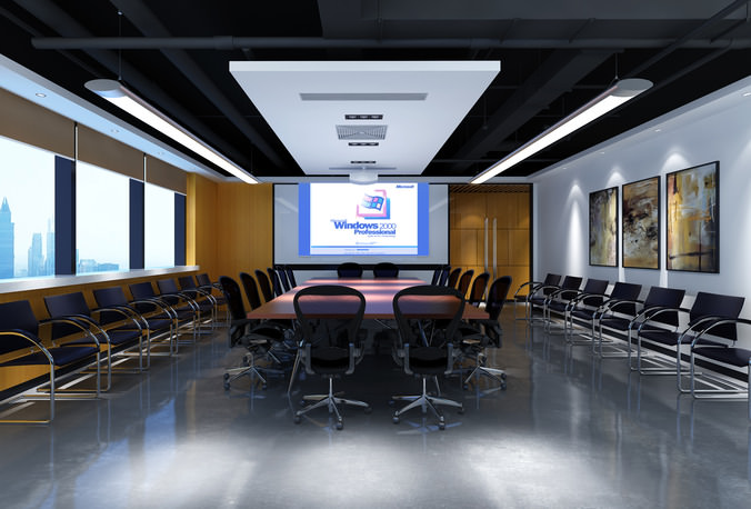 D Max Exhibition Hall : D conference room reception desk cgtrader