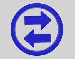 Twin Arrow Symbol 3D asset