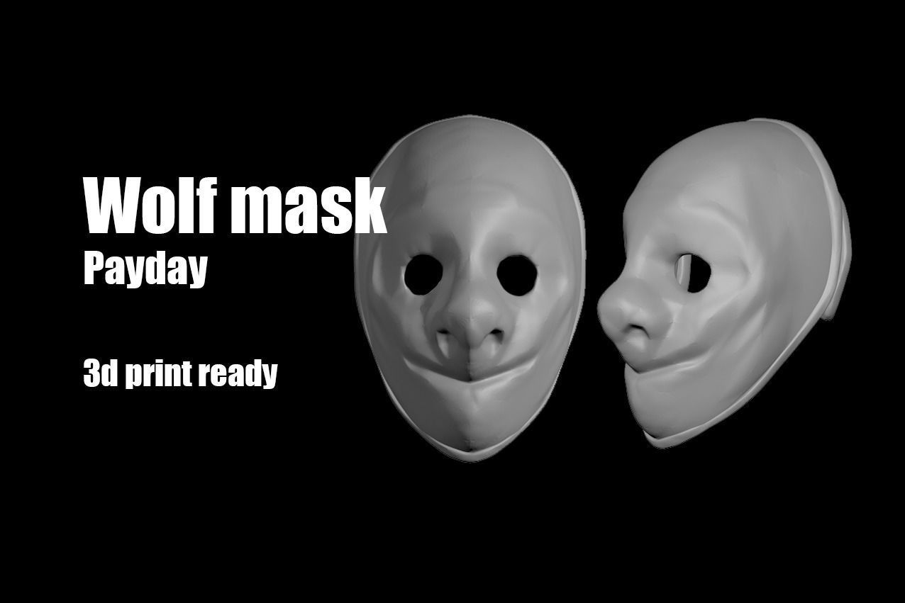 Wolf Payday mask helmet
