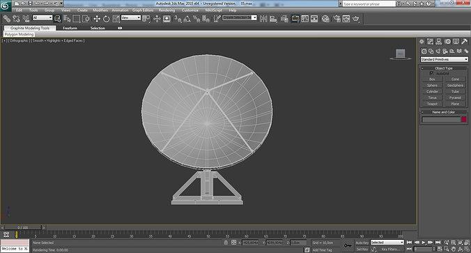 antenna post 3d model 3ds 1