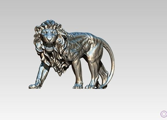 Roar Angry Attack Lion statue
