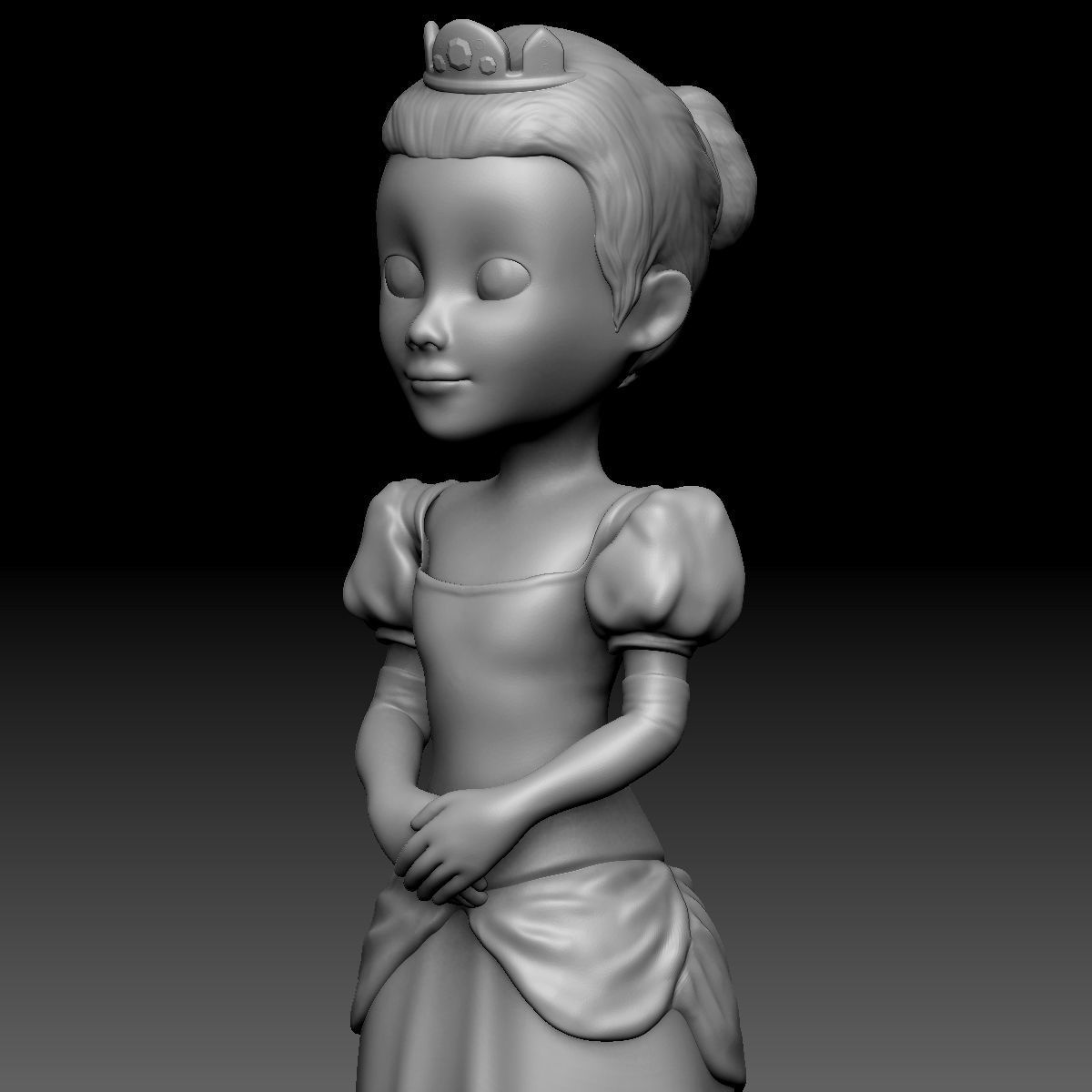 3D Printable Little Princess