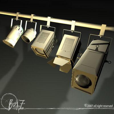 stage lights for set 3d model obj mtl 3ds c4d dxf 1