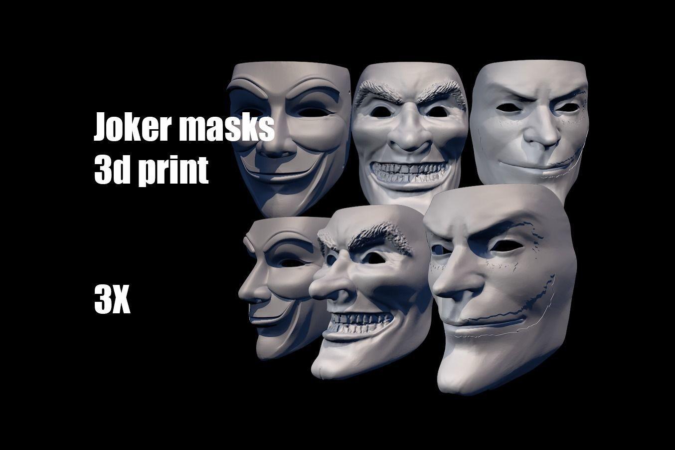Joker masks helmet