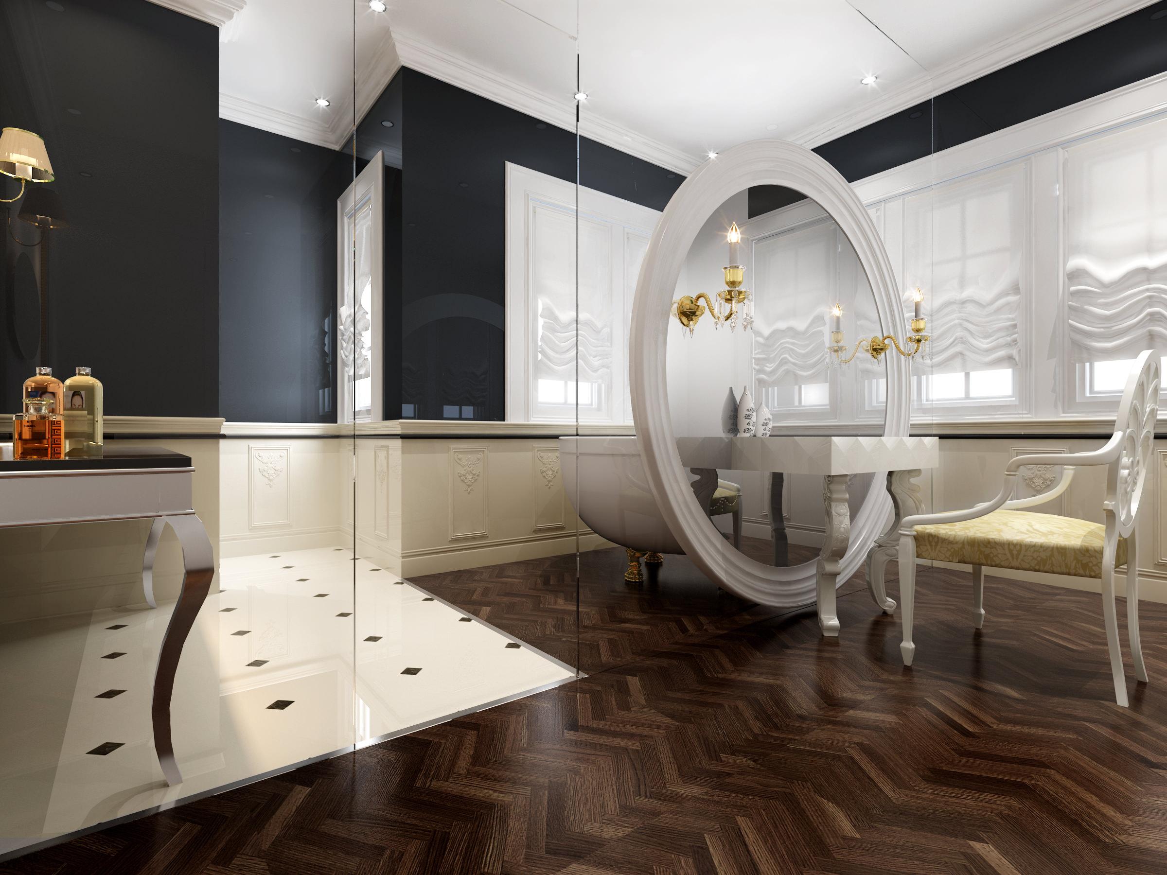 Bathroom Model bathroom with glass decor 3d model max
