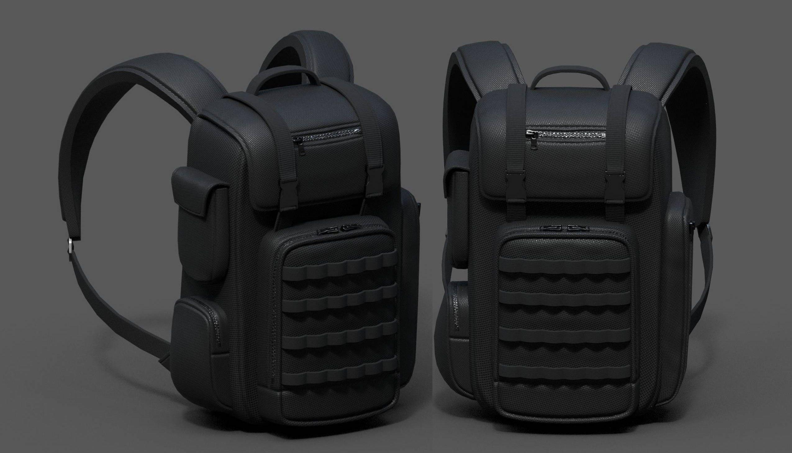 Backpack Camping bag baggage Black