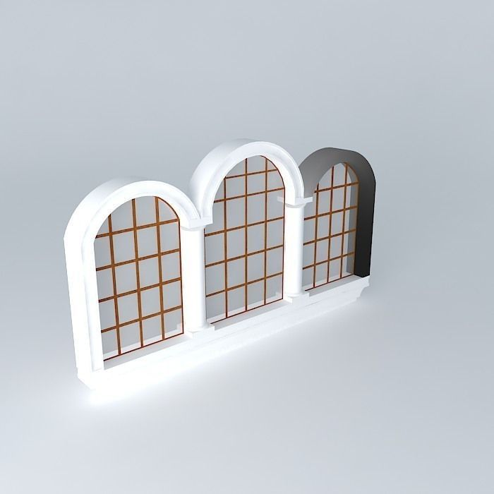 3 Section Window 3d Model Cgtrader