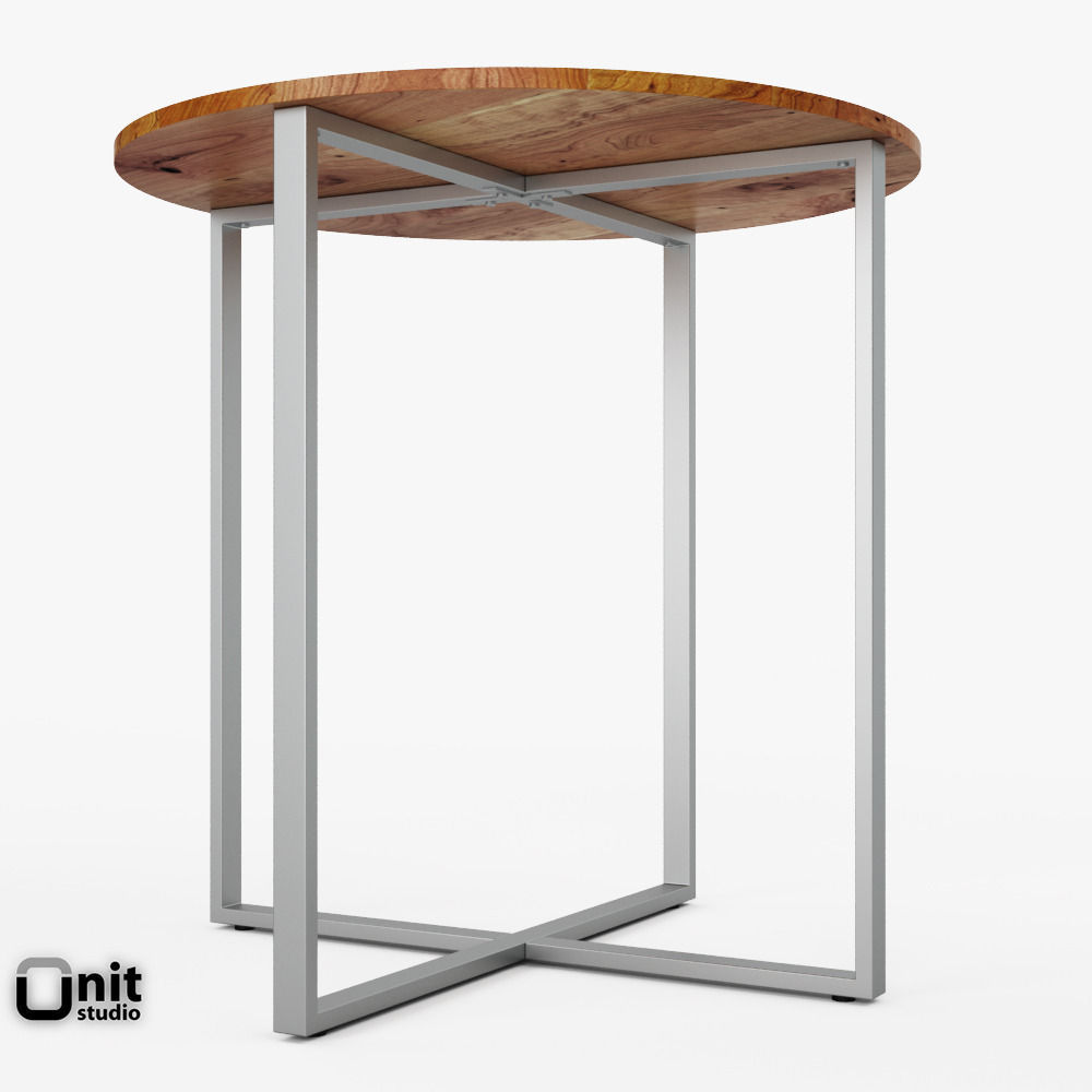 Rustic round counter table by west elm 3d model max obj mtl 3ds fbx dwg unitypackage
