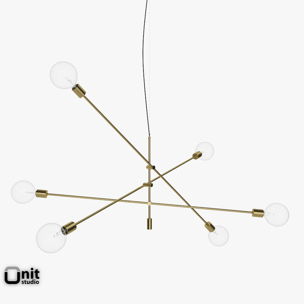 Mobile Chandelier Grand Pendant Light By W... 3D Model MAX