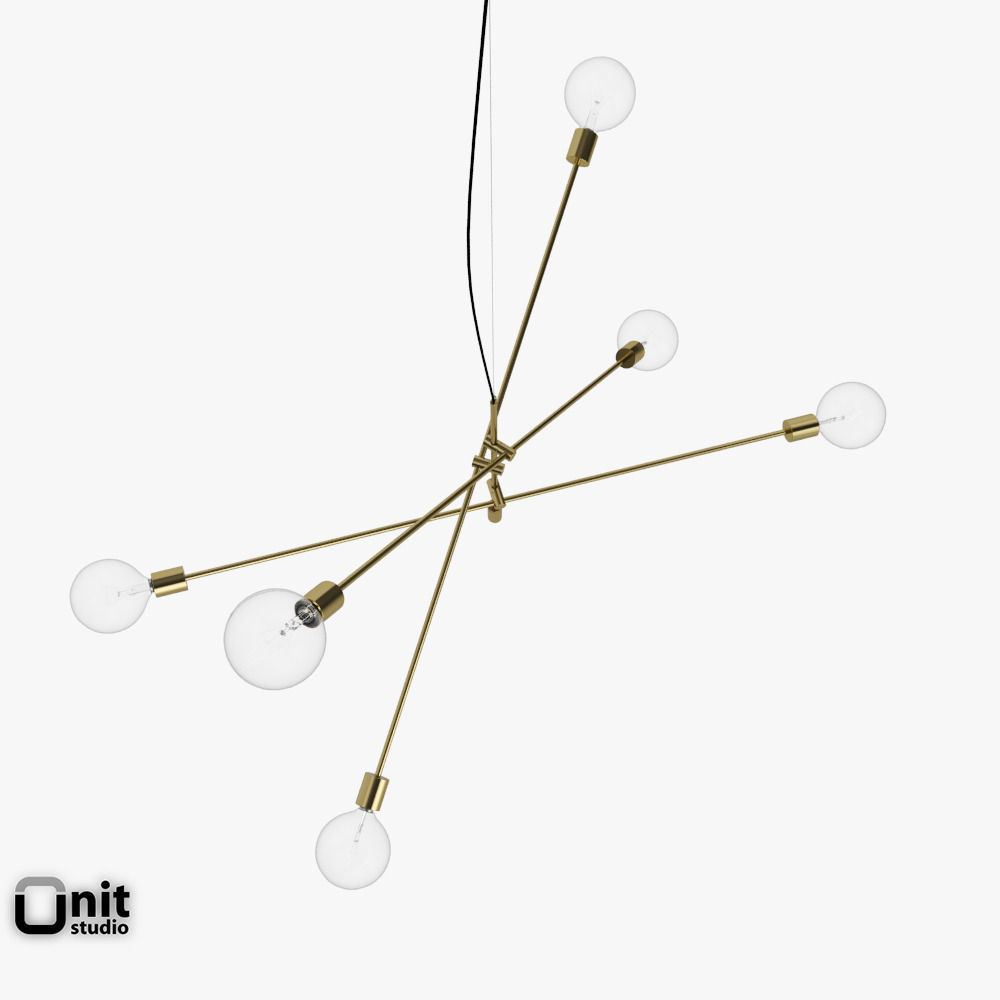 Mobile Chandelier Grand Pendant Light By West Elm 3d Model Max Obj 3ds Fbx Dwg 2