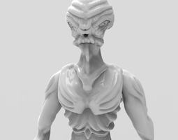 Gryealden The Alien of a Distant Planet 3D Model