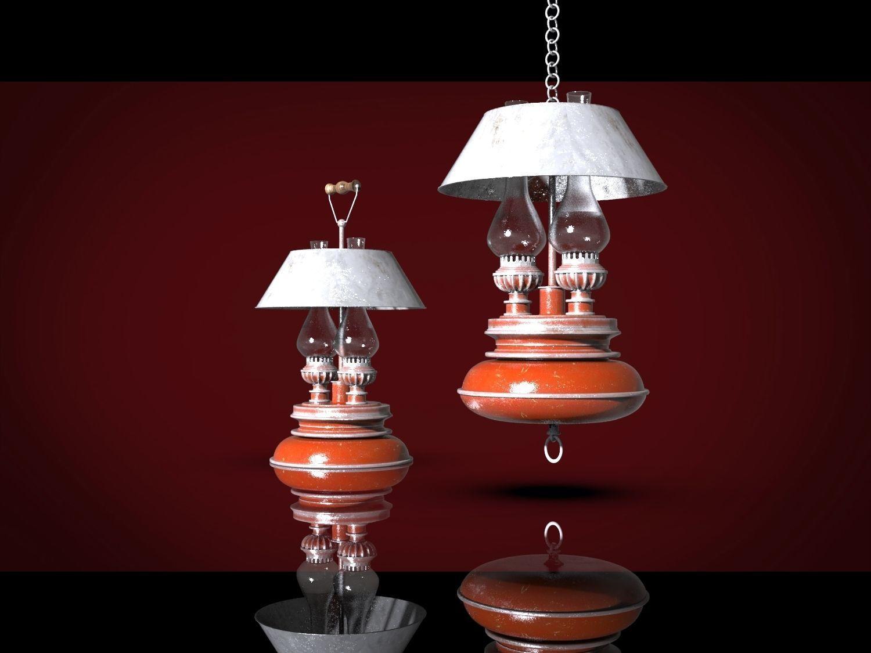 Picture of: 3d Kerosene Lamps Cgtrader