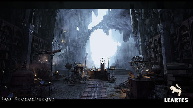Merlins Cave Environment in Unreal Engine