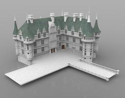 3D historic Chateaux Azay le Rideau