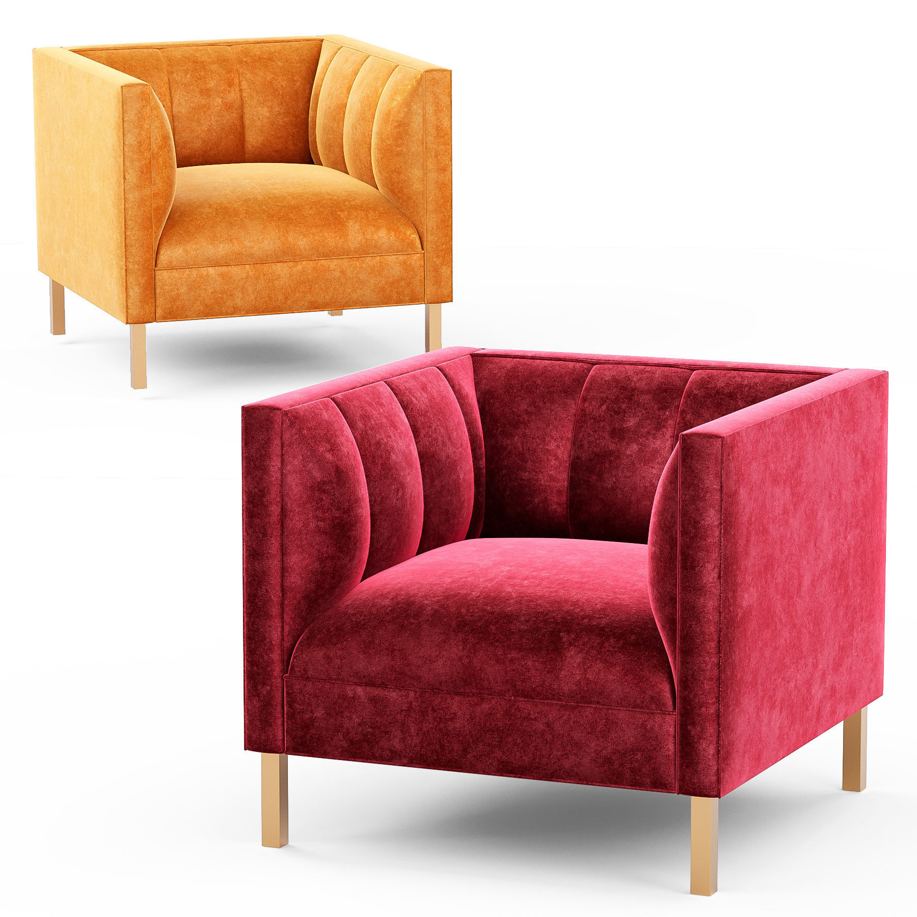 Picture of: 3d Model Crate And Barrel Chloe Chair Cgtrader