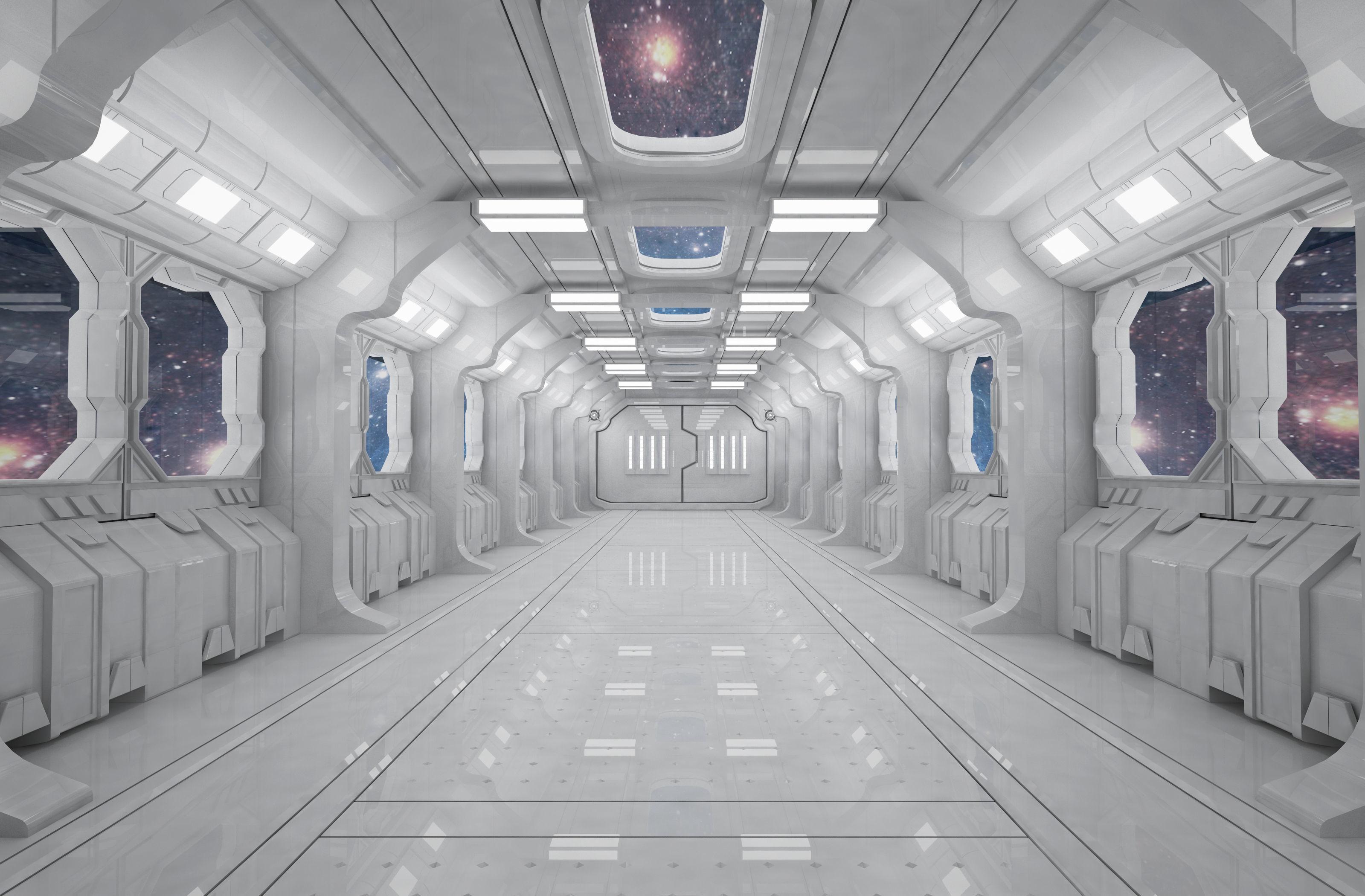 SCI FI INTERIOR SCENE SPACE SHIP