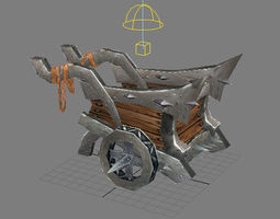 Game Model Arena inferno trolley  3D Model