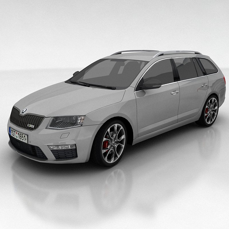 3d model skoda octavia 3 rs kombi vr ar low poly max. Black Bedroom Furniture Sets. Home Design Ideas