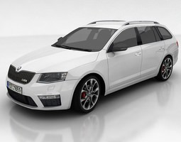 Skoda Octavia 3 RS Kombi 3D model